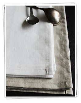 Buy beautiful linen napkins online from Ada & Ina Linen Fabric Store