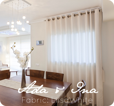 Eyelet curtains - Liisa white