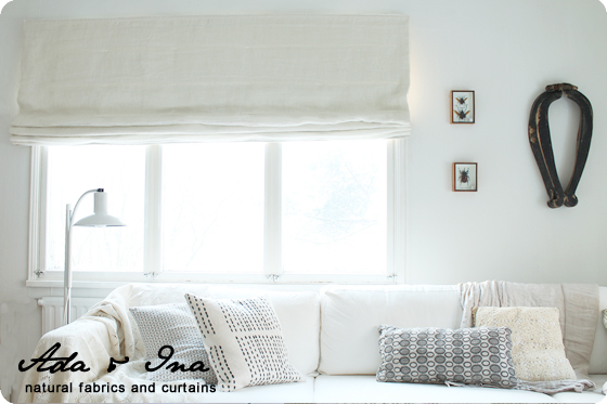Roman Blinds by Ada & Ina - Quality linen fabric and mechanisms