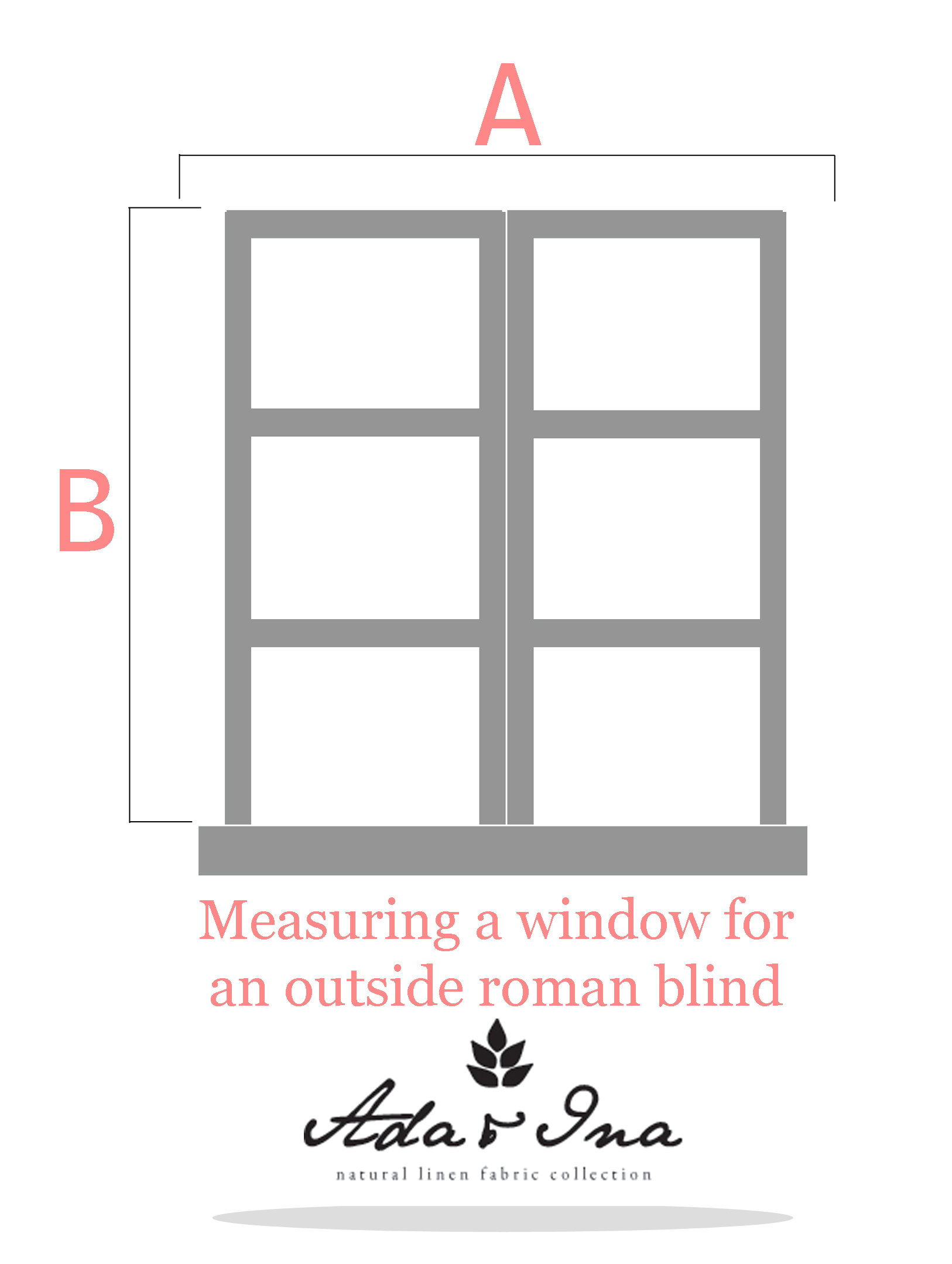How to measure an outside roman blind - Ada & Ina