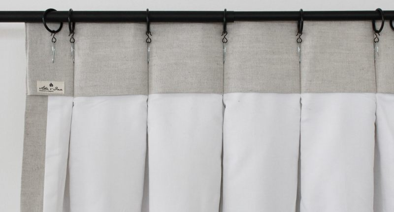 Hanging Double Pleat Curtains