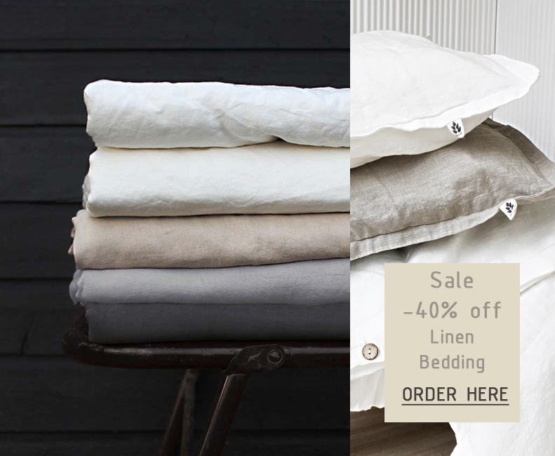 Linen Bedding Sale! 40% Discount, lovely colours to choose from!