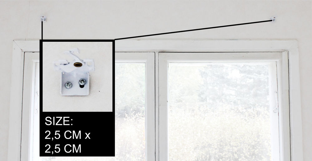 Roman blind wall brackets and fitting