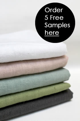 Linen Fabric Grey Blue Red White Green Yellow Pale Pink
