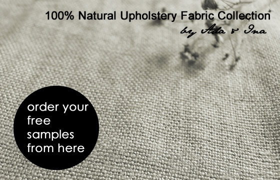 Natural linen fabrics for trade customers