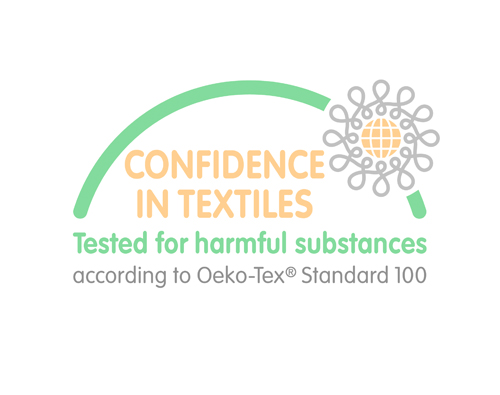 Logo for Oeko-tex chemical free and safe textiles - Ada & Ina