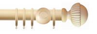 Wooden curtain poles from Ada & Ina